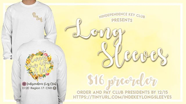 IHS is selling long sleeves! Grab one for $16 while it's still cold :)) Preorder link in the bio!