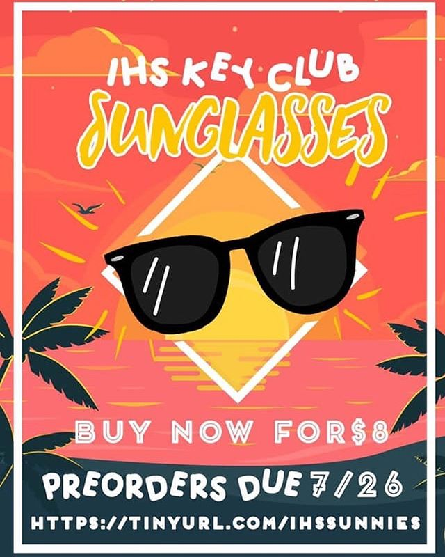 HOORAY FOR THE HOT AND SUNNY DAYS! its fun and games until you are not protected from the uv rays..WELL THAT IS OKAY BECAUSE THE KEY CLUBMASTERS ARE HERE TO SAVE THE DAY!!! You can show your key club swag without spending the phat price tag!! For only $8 Preorder until July 26th!!! Remember to give your payment via in hand to your club president or venmo @kvdngg  PLEASE LABEL YOUR ENVELOPE/ VENMO PAYMENT WITH.. FULL NAME GRADE SCHOOL MONEY  AND QUANTITY (preorder form in bio!!)