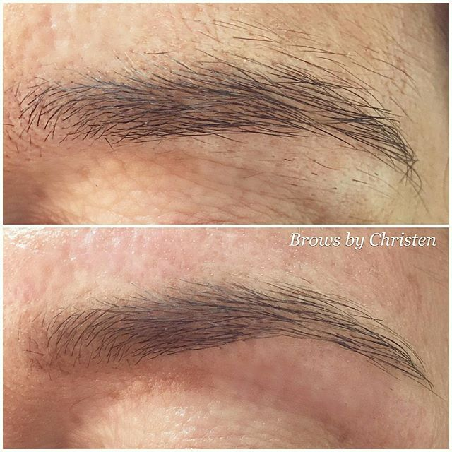 A little before and after brow love by our Gild Girl Christen! We will be waxing all week, schedule online at www.gildbeautybar.com