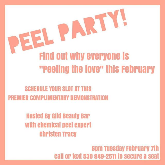 Come find out why getting a PCA Chemical Peel is something you need to do! If you want beautiful, glowing skin, or if you suffer from acne ,hyper/hypo pigmentation or skin conditions based upon the climate; this Peel is for you! Our Esthetician Christen has been a Peel specialist for 12 years and will be giving you all the insight you need about peels! Contact us at 530.949.2511 to save your seat for this Tuesday's FREE seminar where she will be peeling models with different skin types. There are only a few slots left so sign up now!