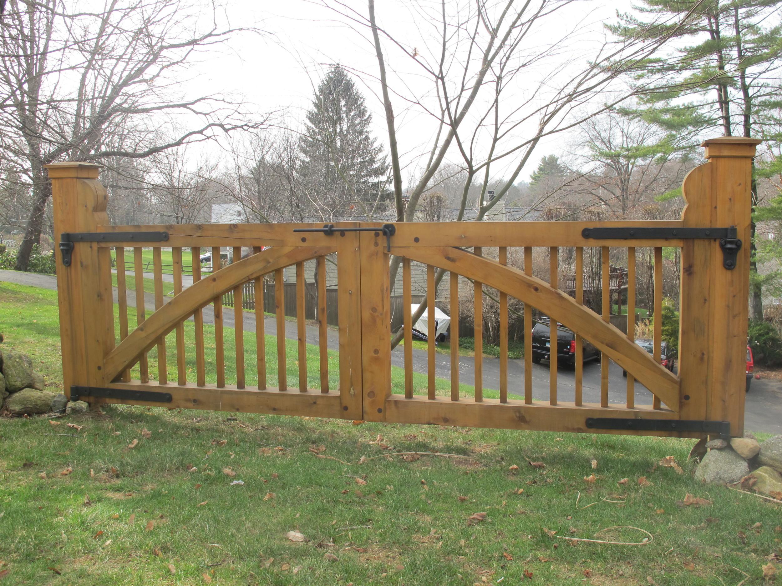 Cedar Gate with Mahogany Pegs