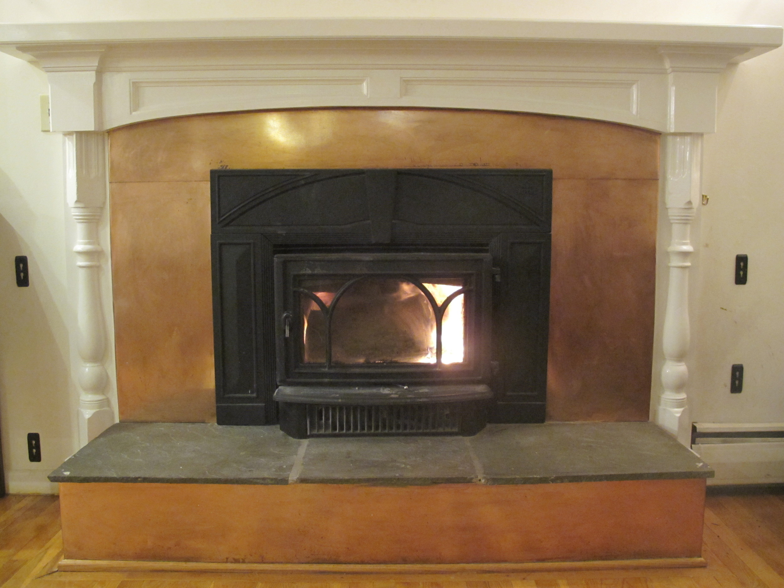 Mantle with Copper Surround