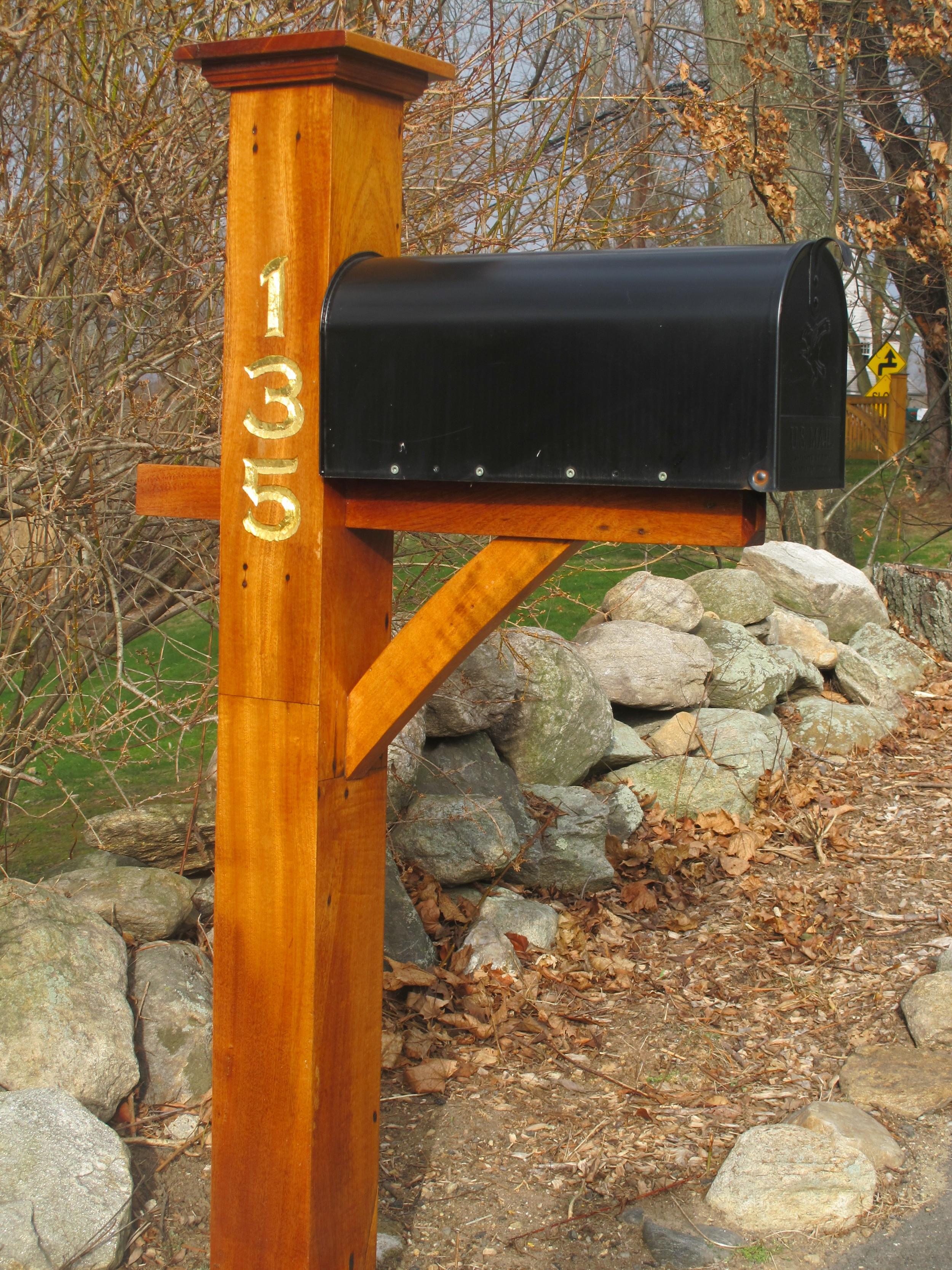 Mahogany Mailbox Post
