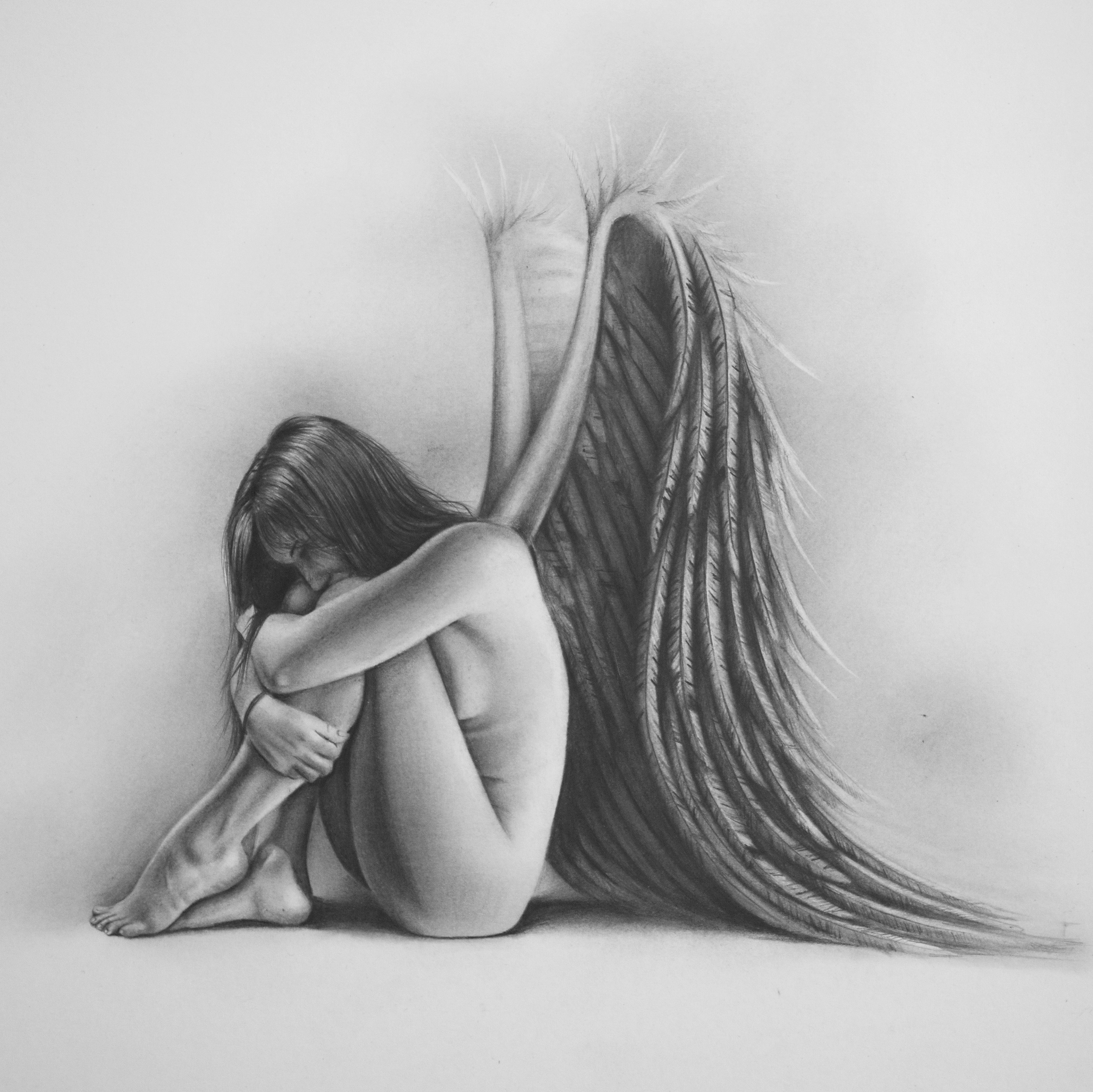 """Recovery"", Graphite on paper, 12"" x  12"""