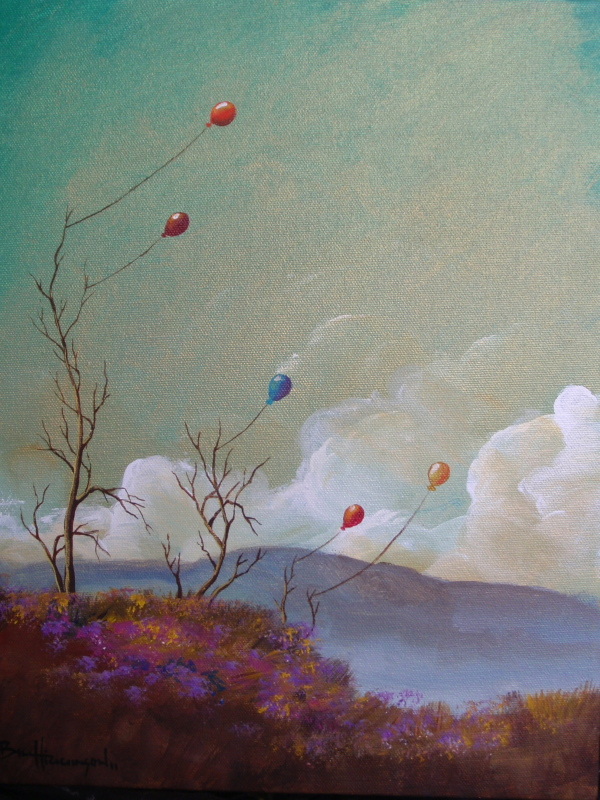 Found the lost dreams-Happy tree series acrylic on canvas painting.jpg