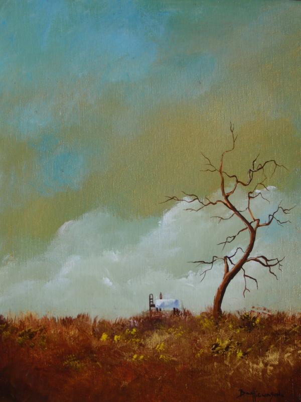 New Friend.Happy tree series acrylic on canvas painting.jpg