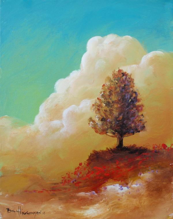 The Podium.Happy tree series acrylic on canvas painting.jpg