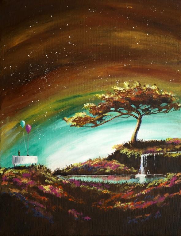 Happy tree series acrylic on canvas painting.jpg
