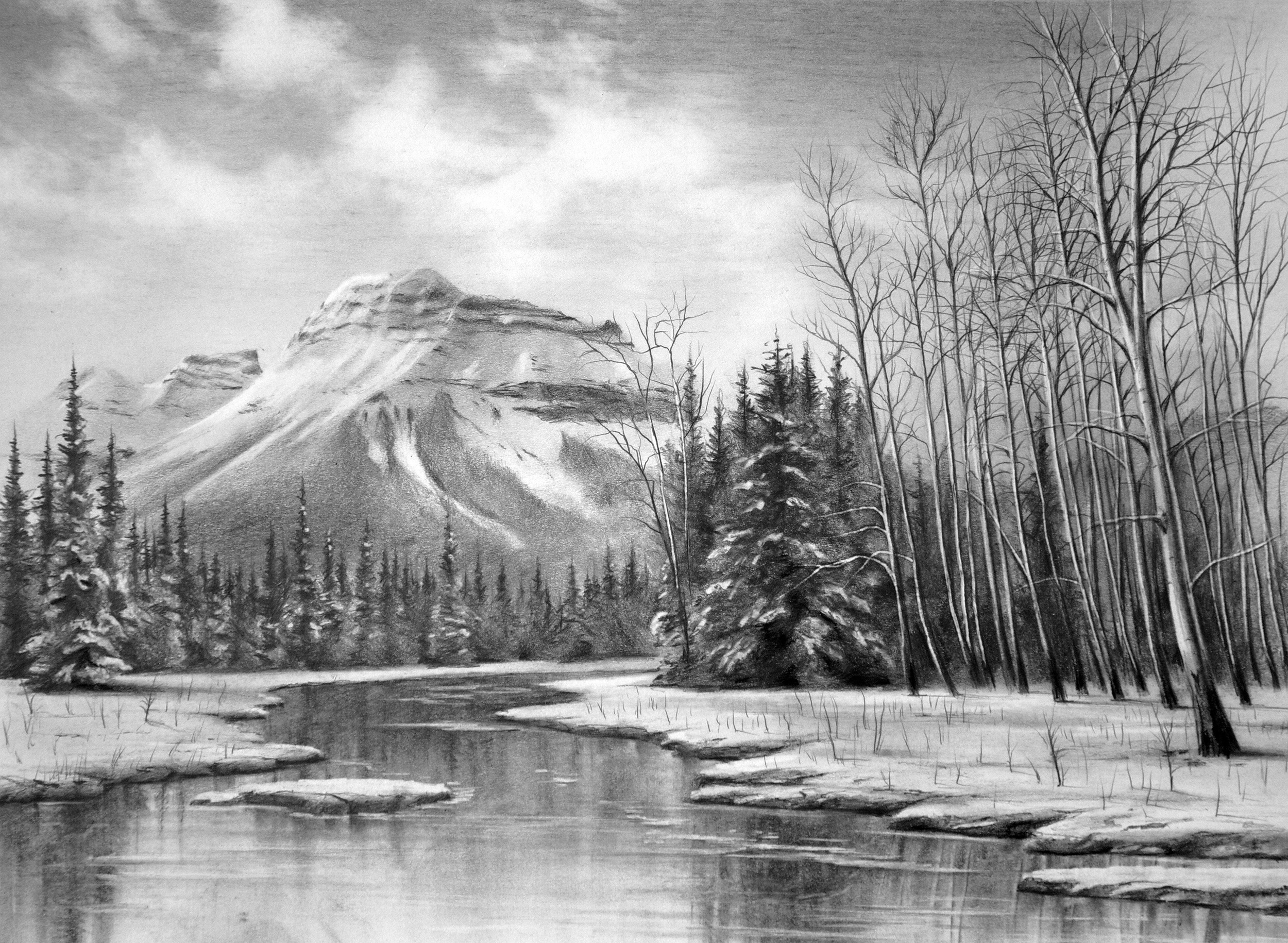 Albert A-bill-higginson-artist-graphite-drawing-realism-black-and-white