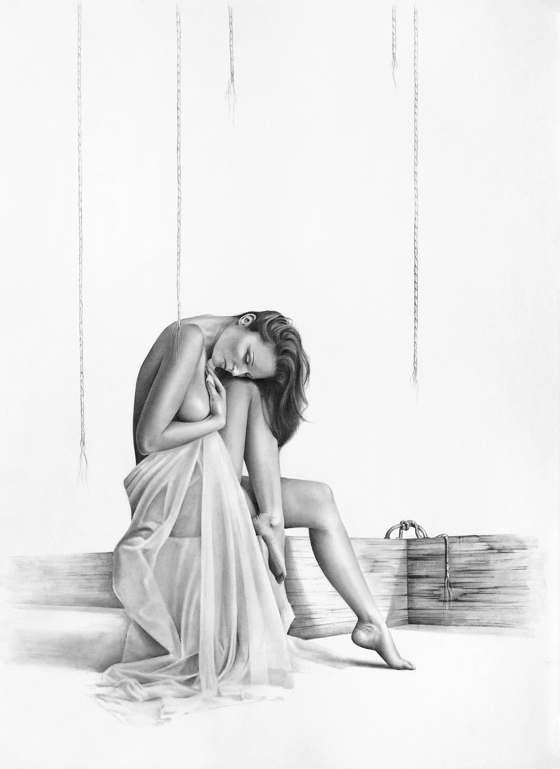 The Freed Puppet-bill-higginson-artist-graphite-drawing-realism-black-and-white