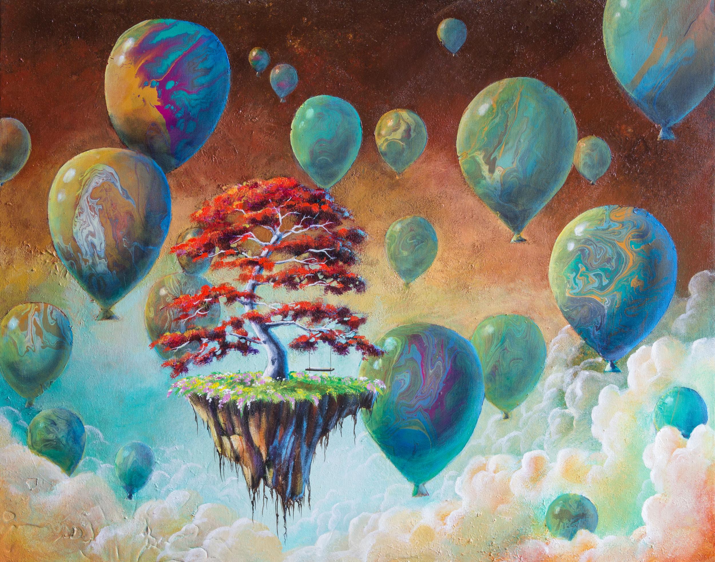 Bonsai Dreaming- Happy tree series acrylic on canvas painting.jpg