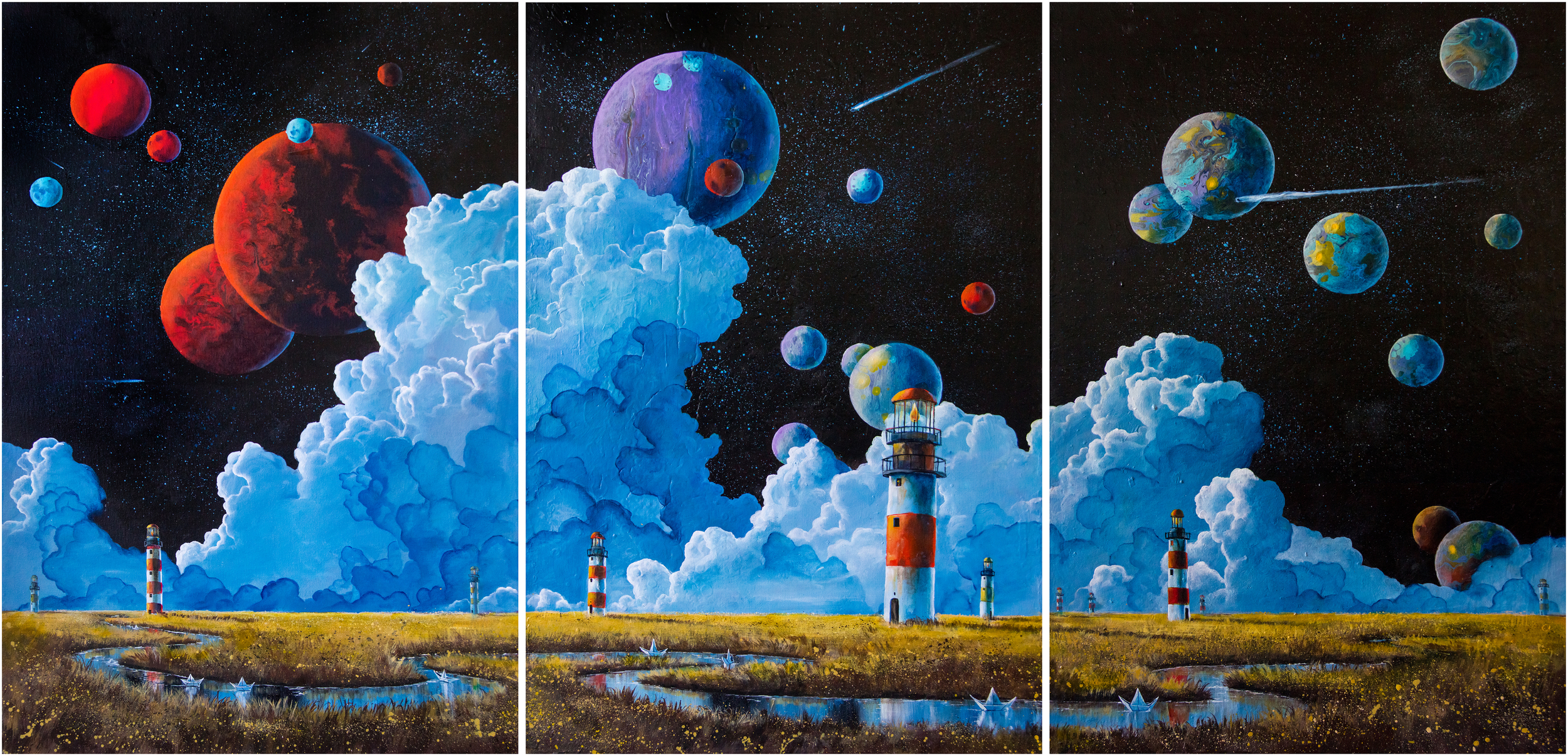 """The Voyage""                         36"" x 72"", Acrylic on canvas"