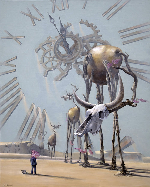 The Tyranny of Time-contemporary-surrealism-art-acrylic-painting-vancouver-artist-william-higginson