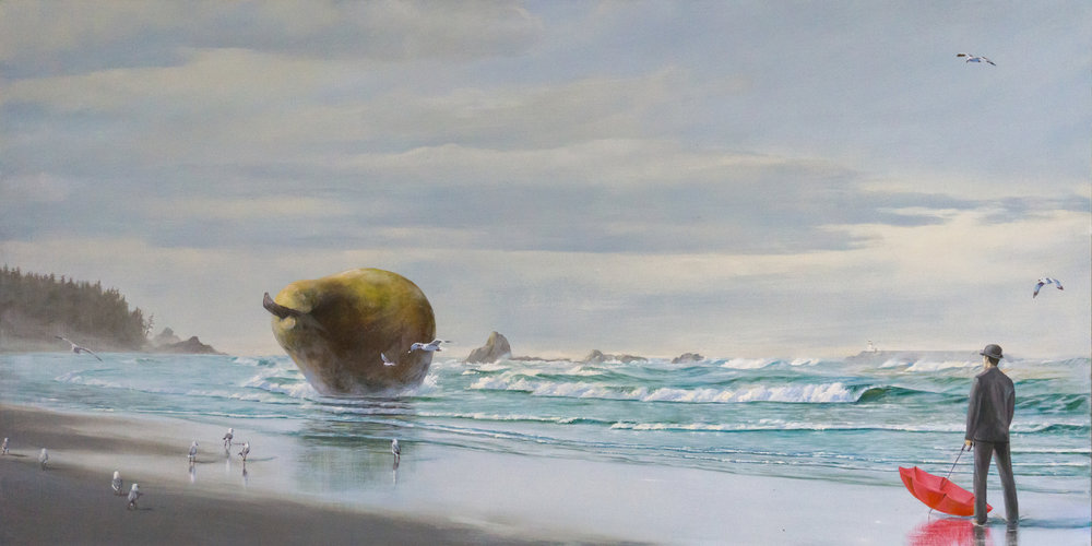 First Contact-contemporary-surrealism-art-acrylic-painting-vancouver-artist-william-higginson