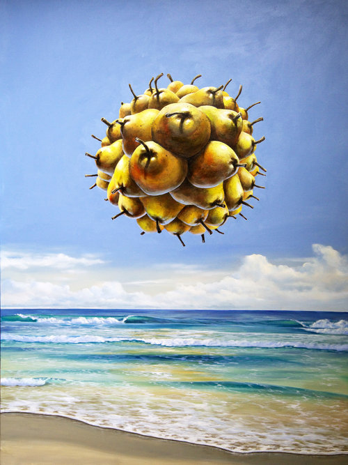 Solar Pear-contemporary-surrealism-art-acrylic-painting-vancouver-artist-william-higginson
