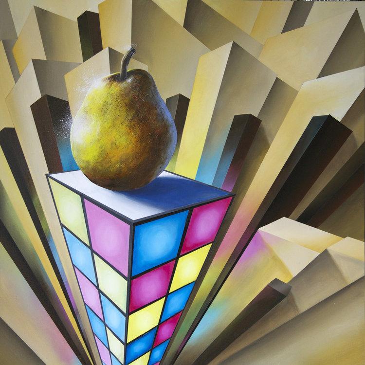 Flair!-contemporary-surrealism-art-acrylic-painting-vancouver-artist-william-higginson