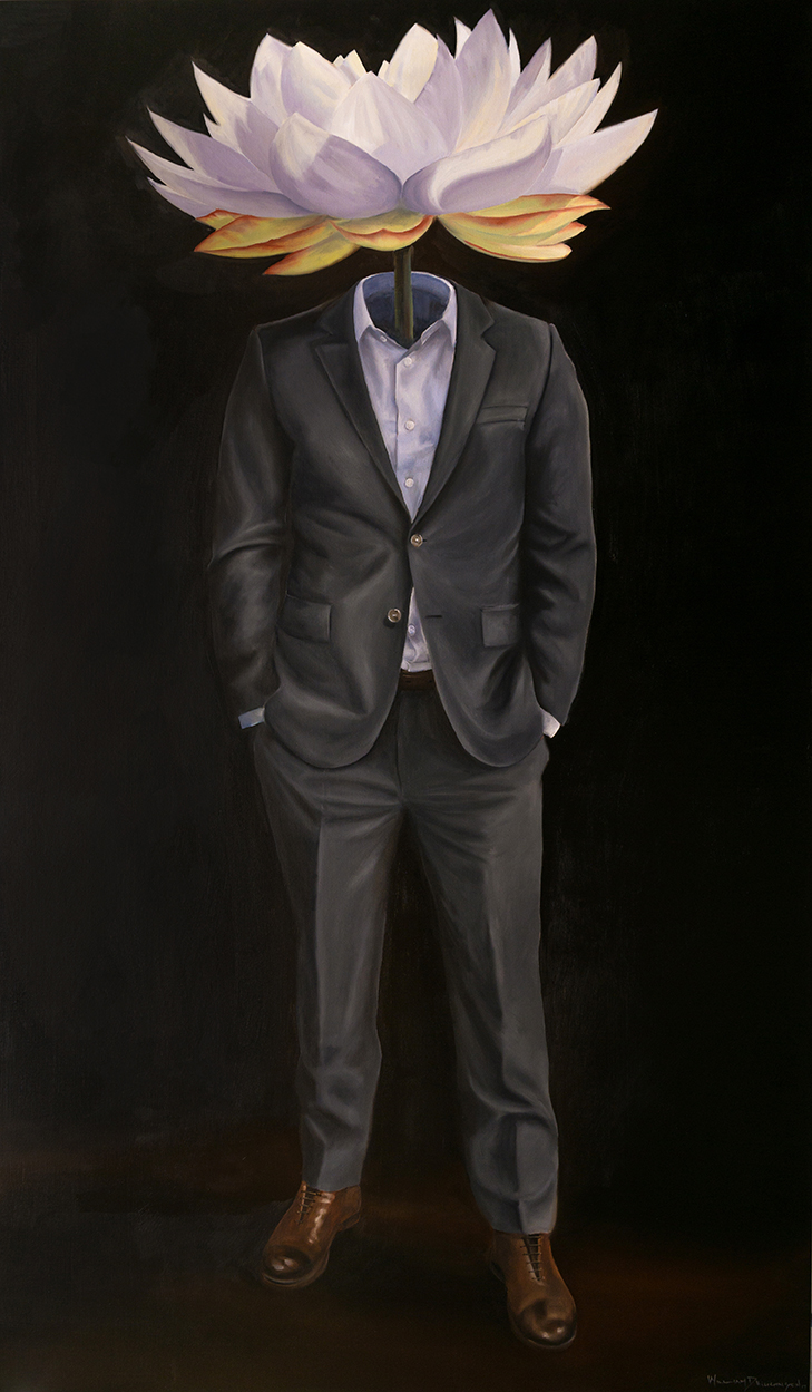 w1 - peregrine man - William D. Higginson - surrealism art.jpg