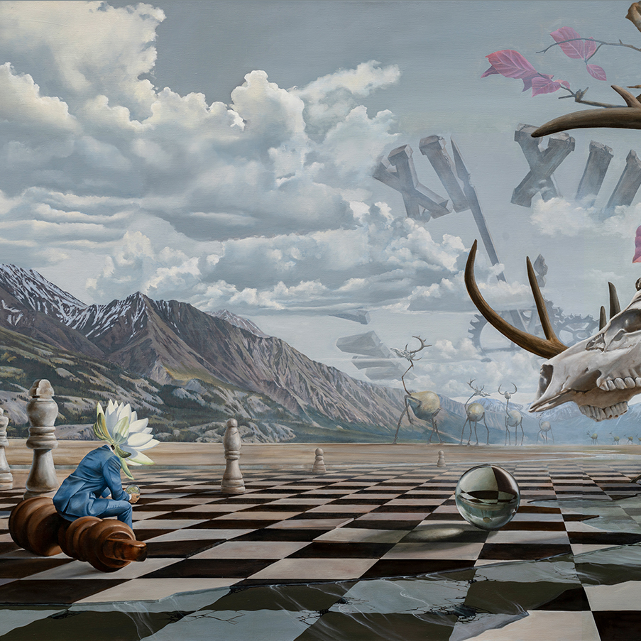 william higginson surrealism painting check chess game thumbnail.jpg