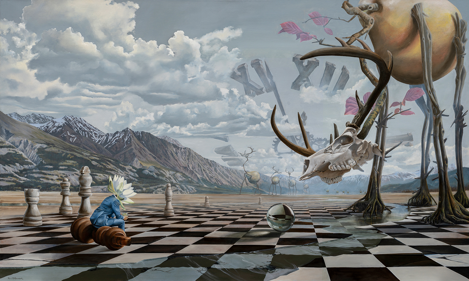 william higginson surrealism painting check chess game web.jpg
