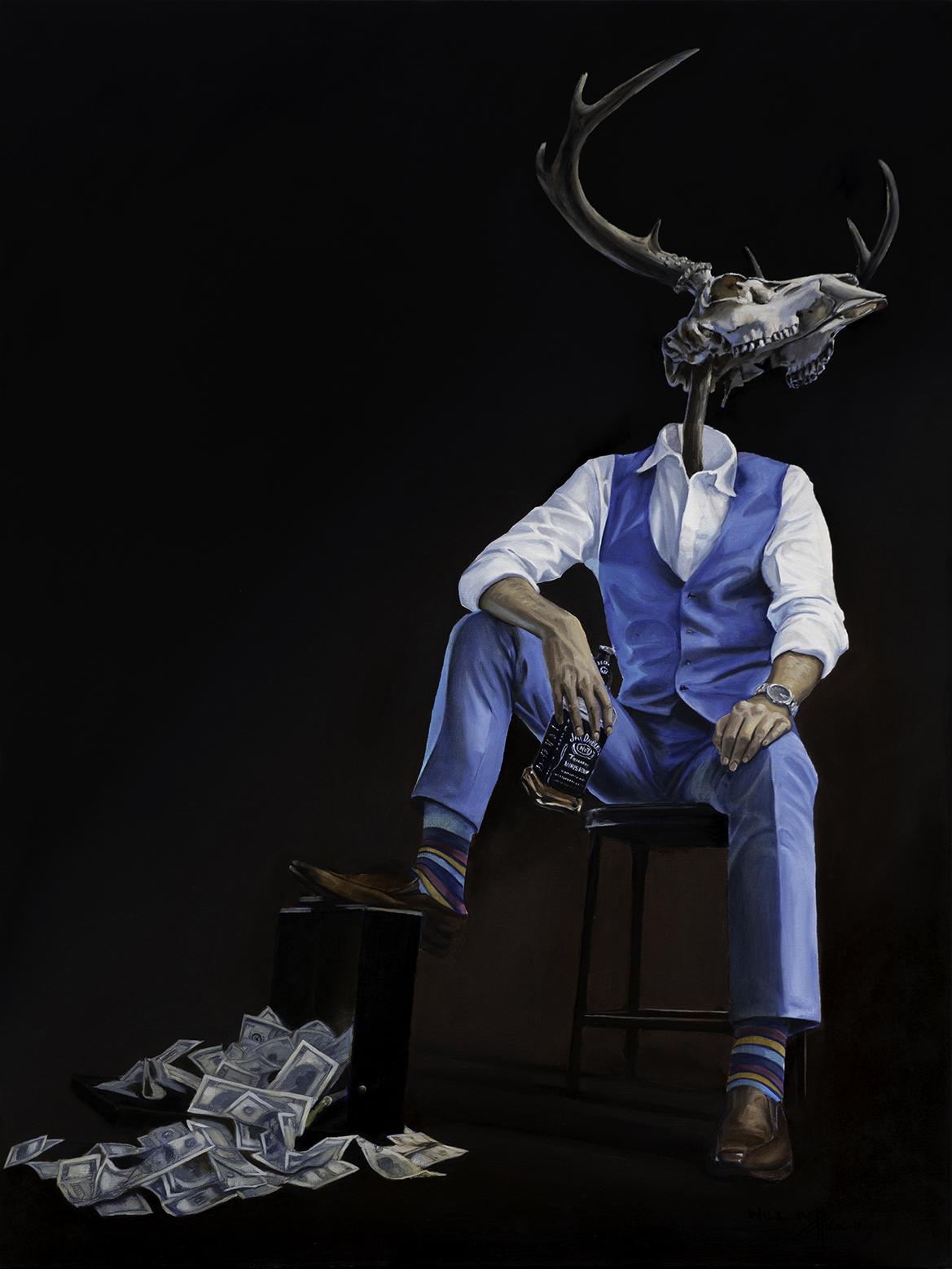 Homo Corporatum surrealist painting by William D. Higginson