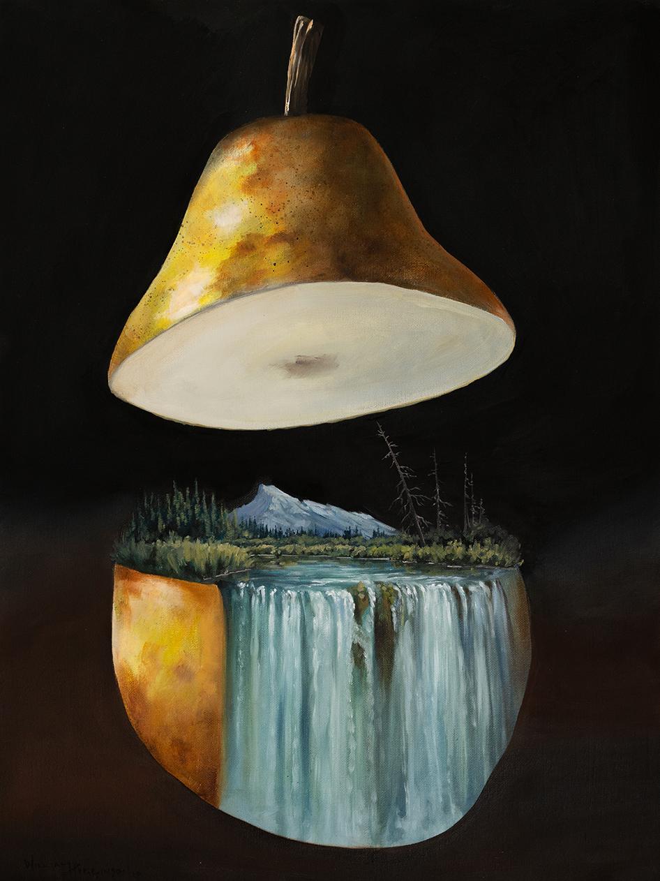Pyriforma incubandi citius paxillum surrealism oil painting william d higginson.jpg