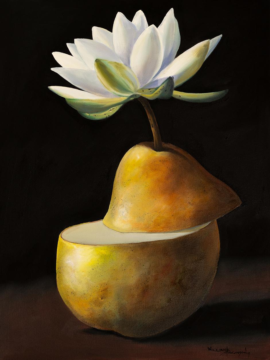 Pyriforma incubandi lotos surrealism oil painting william d higginson.jpg