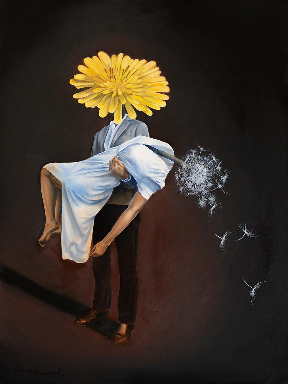Taraxacum's Wish surrealism oil painting william d higginson.jpg