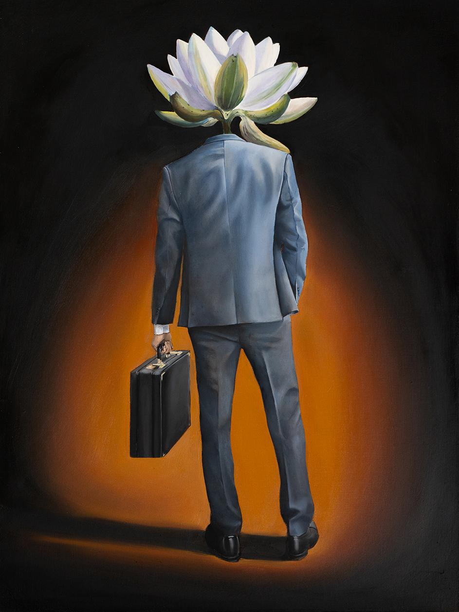 The Lotus surrealism oil painting william d higginson.jpg