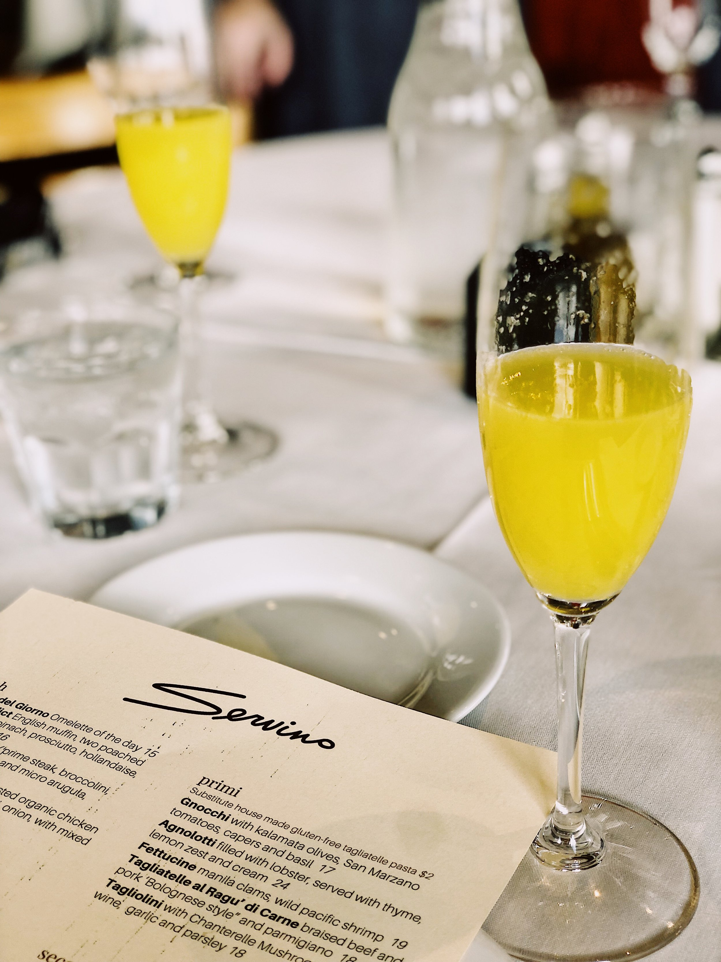 sometimes all you need is mimosas and a menu to start your day