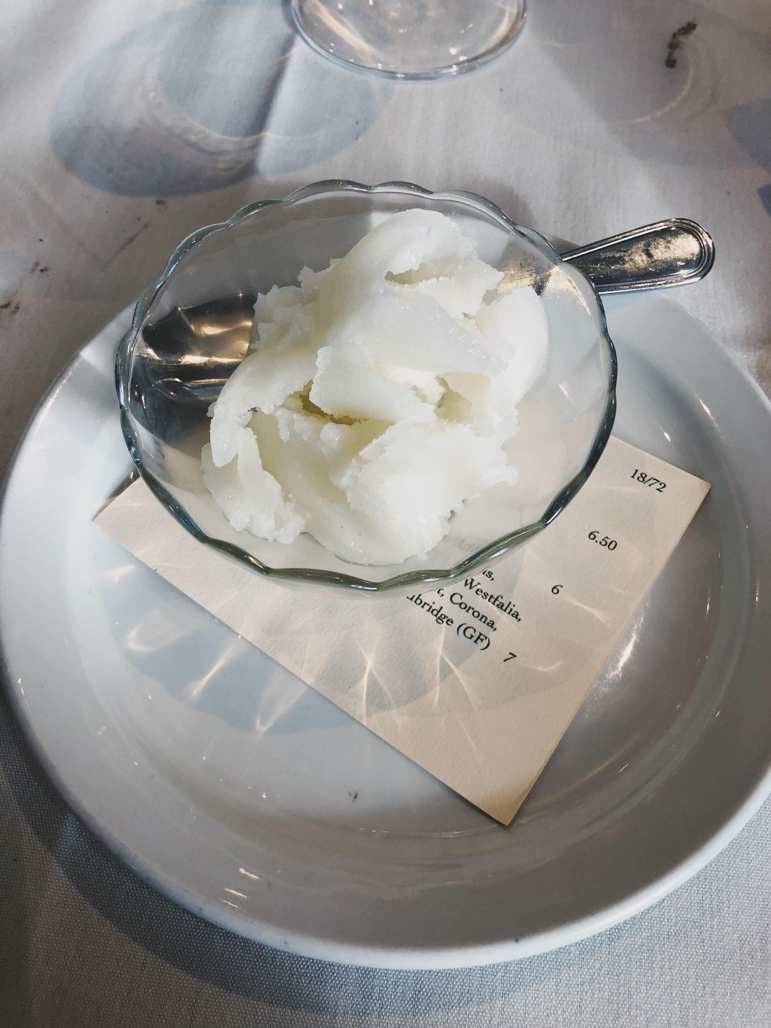 lemon sorbet to fix the sweet tooth