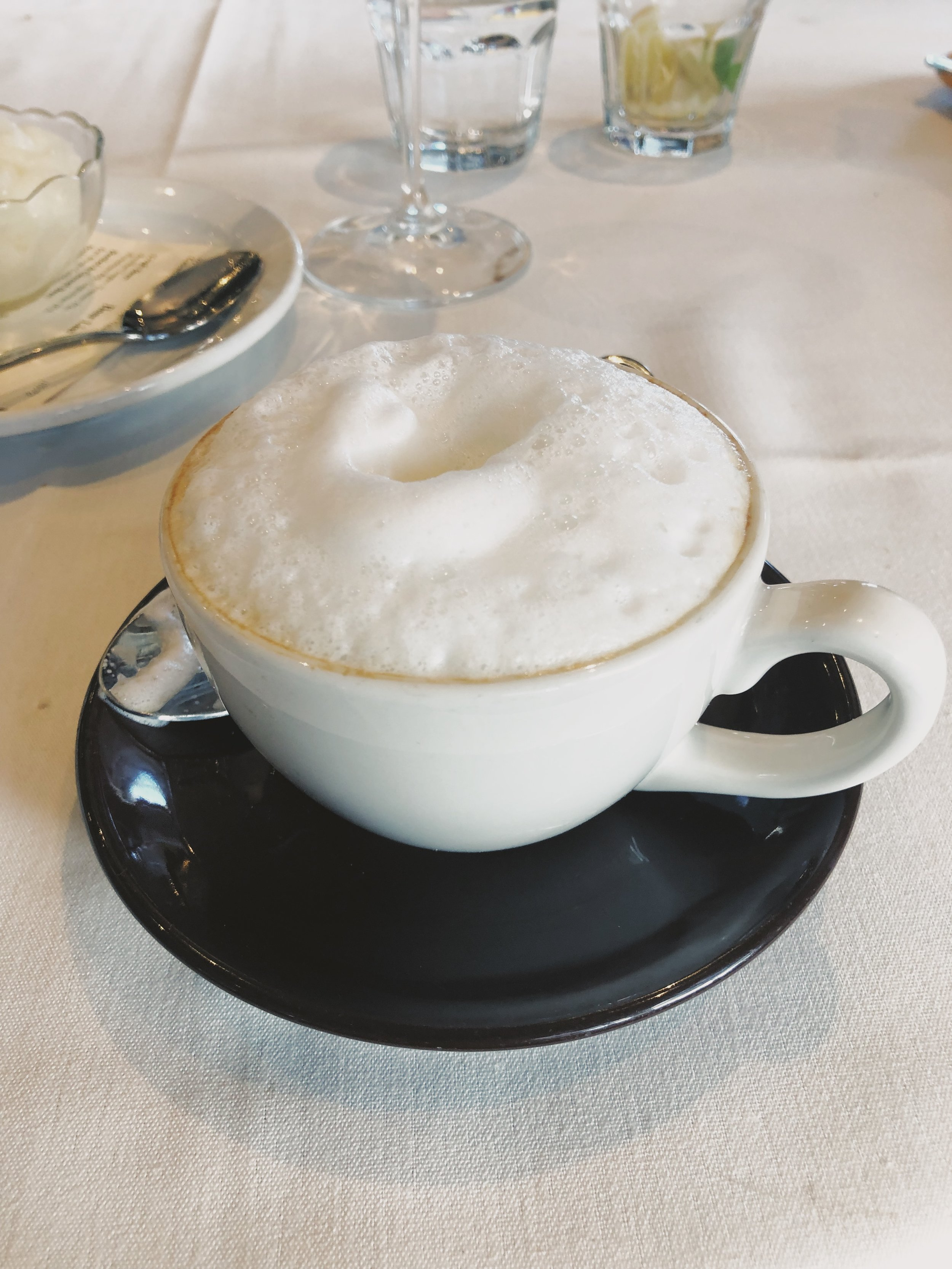 end your meal with a lovely cappuccino