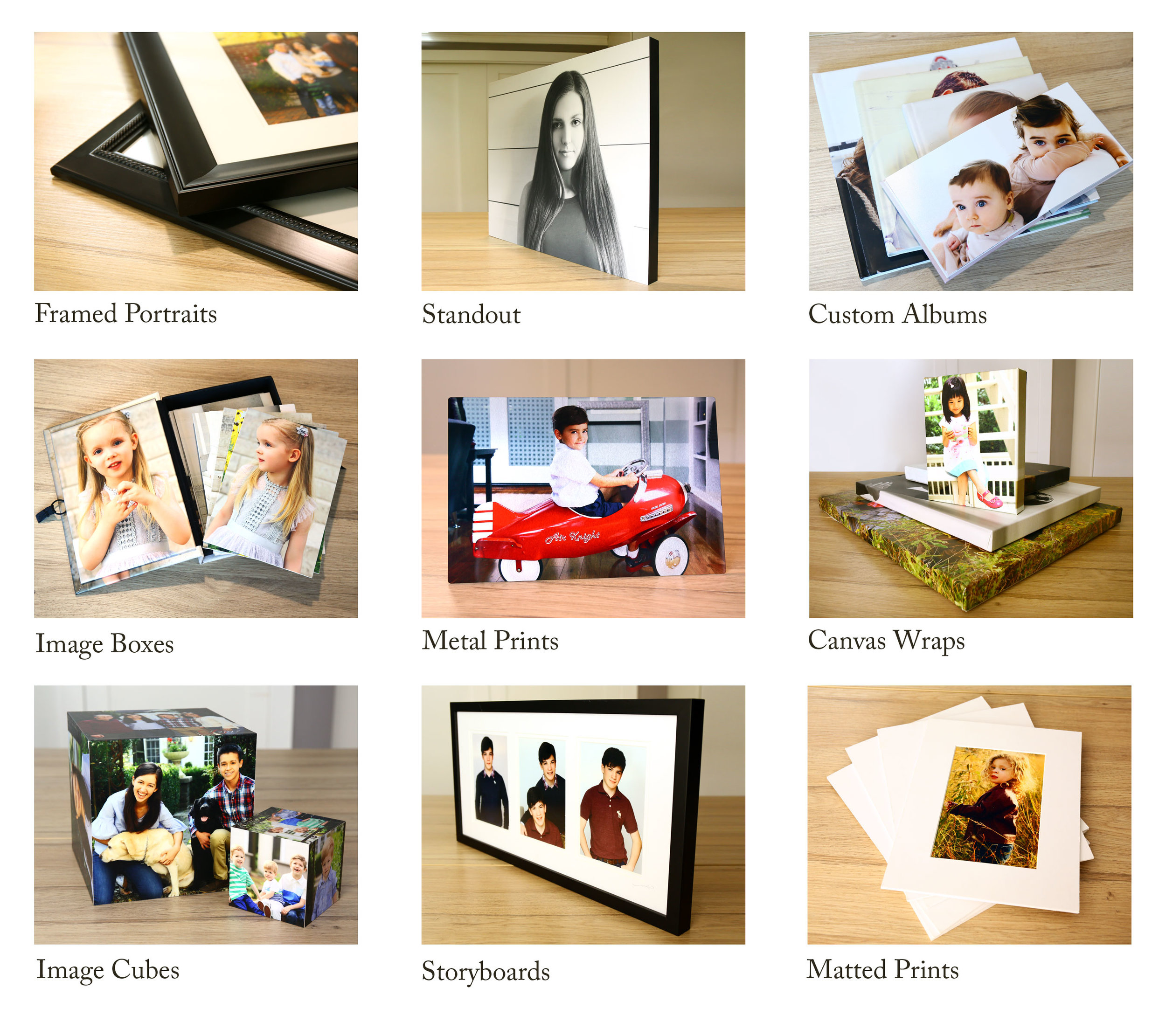 Delivering Excellence & Delight - In addition to professionally printed photographs and finished digital images, we offer a fine array of beautifully crafted custom products to our clients.