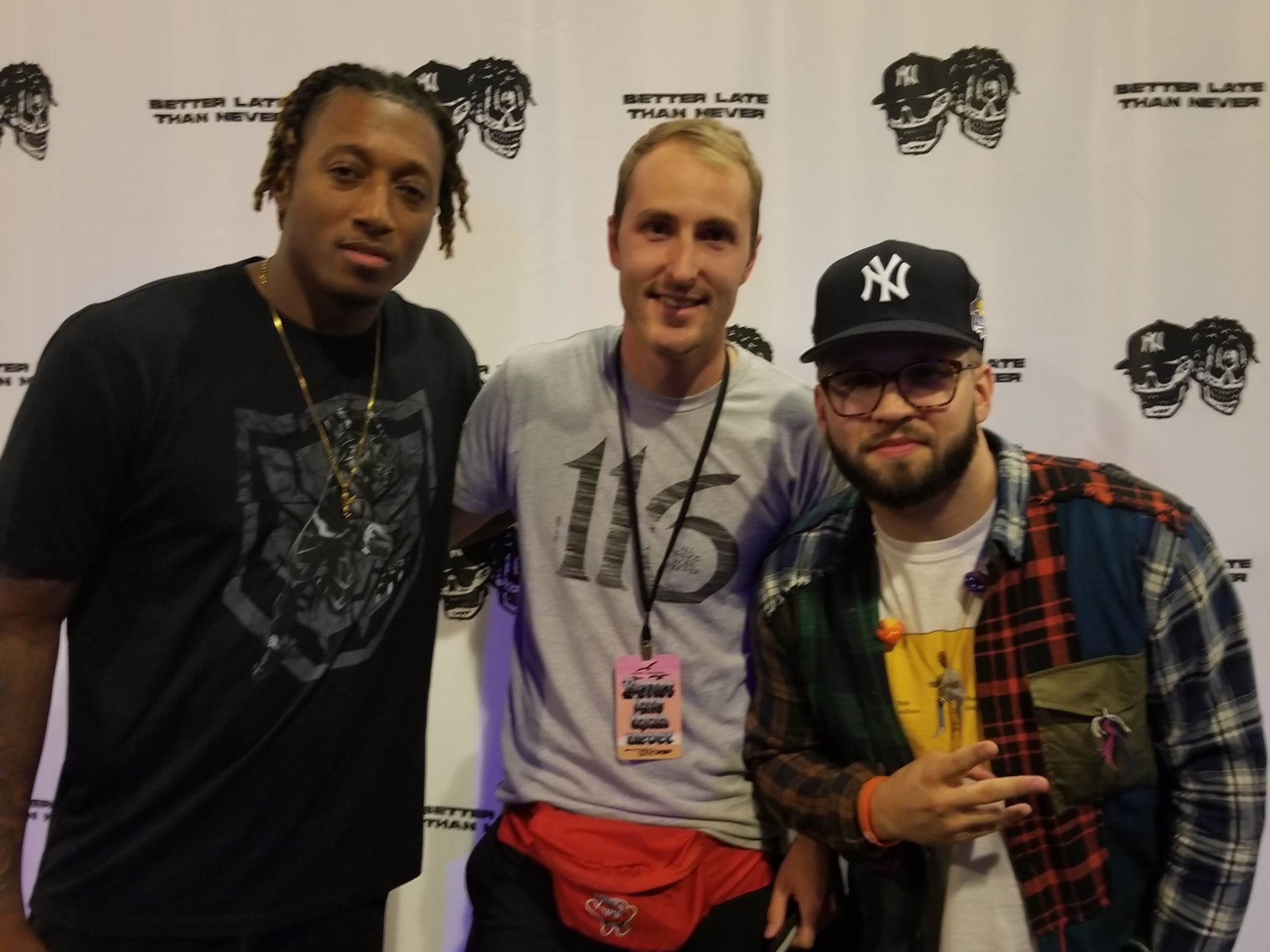 ( Steven with Lecrae & Andy Mineo )
