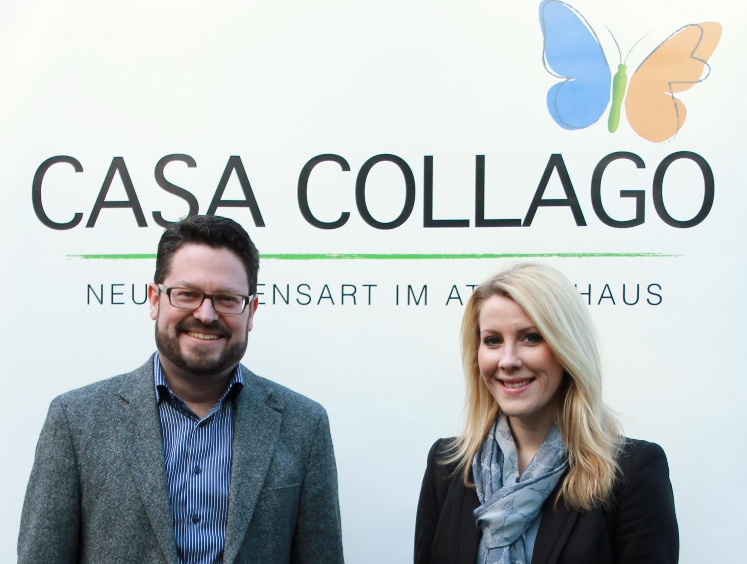 Frank Viseneber und Stephanie Schwank vom Maklerhaus Brand & Co. in Bad Oeynhausen