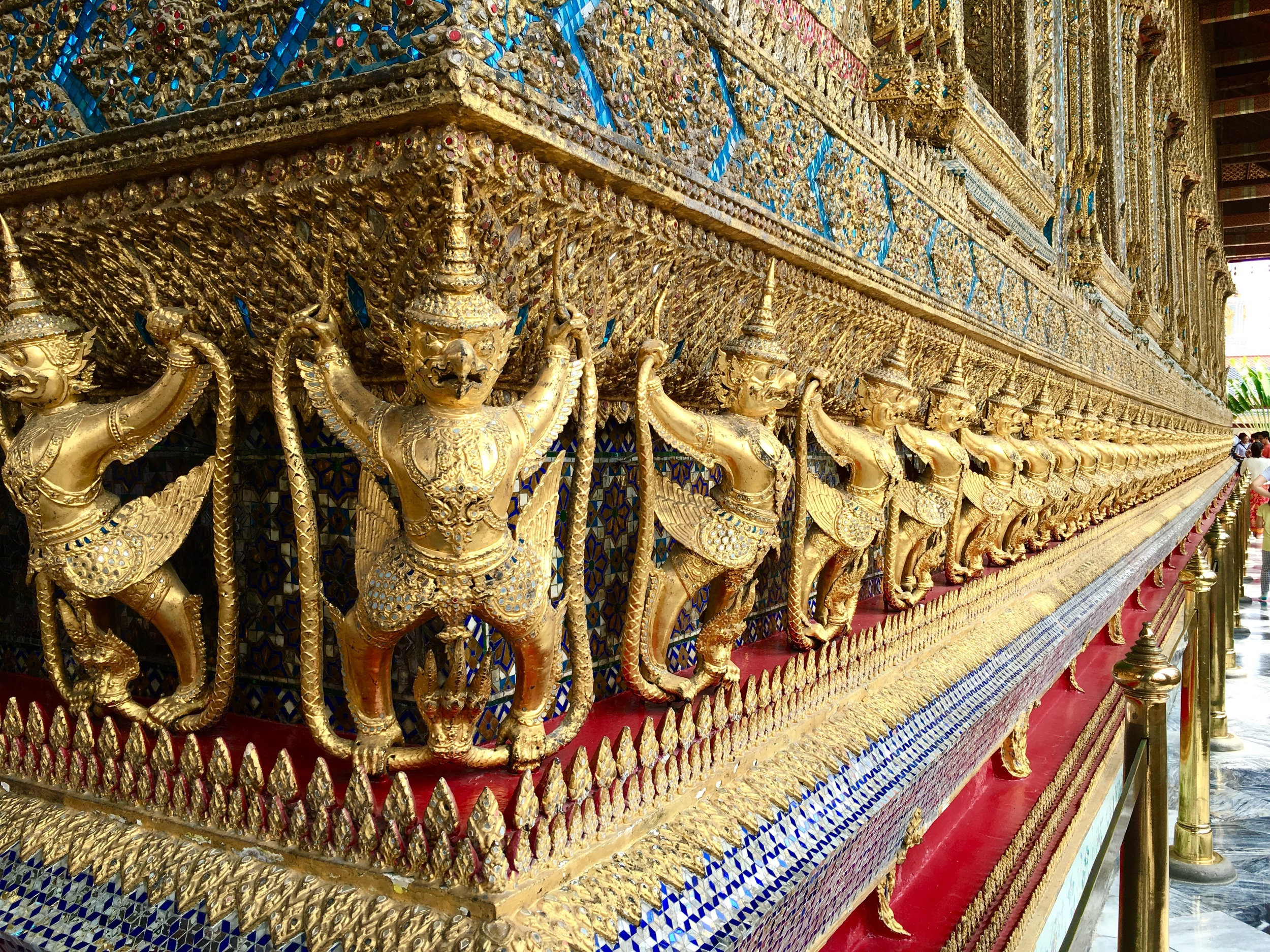 Details of the Grand Palace in Bangkok, Thailand.