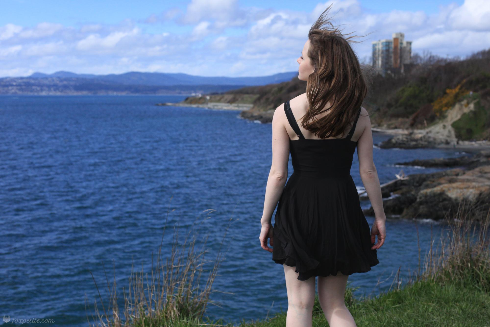 Fox Petite Blog - Petite-Friendly Aritzia Talula Lipinski little black dress back