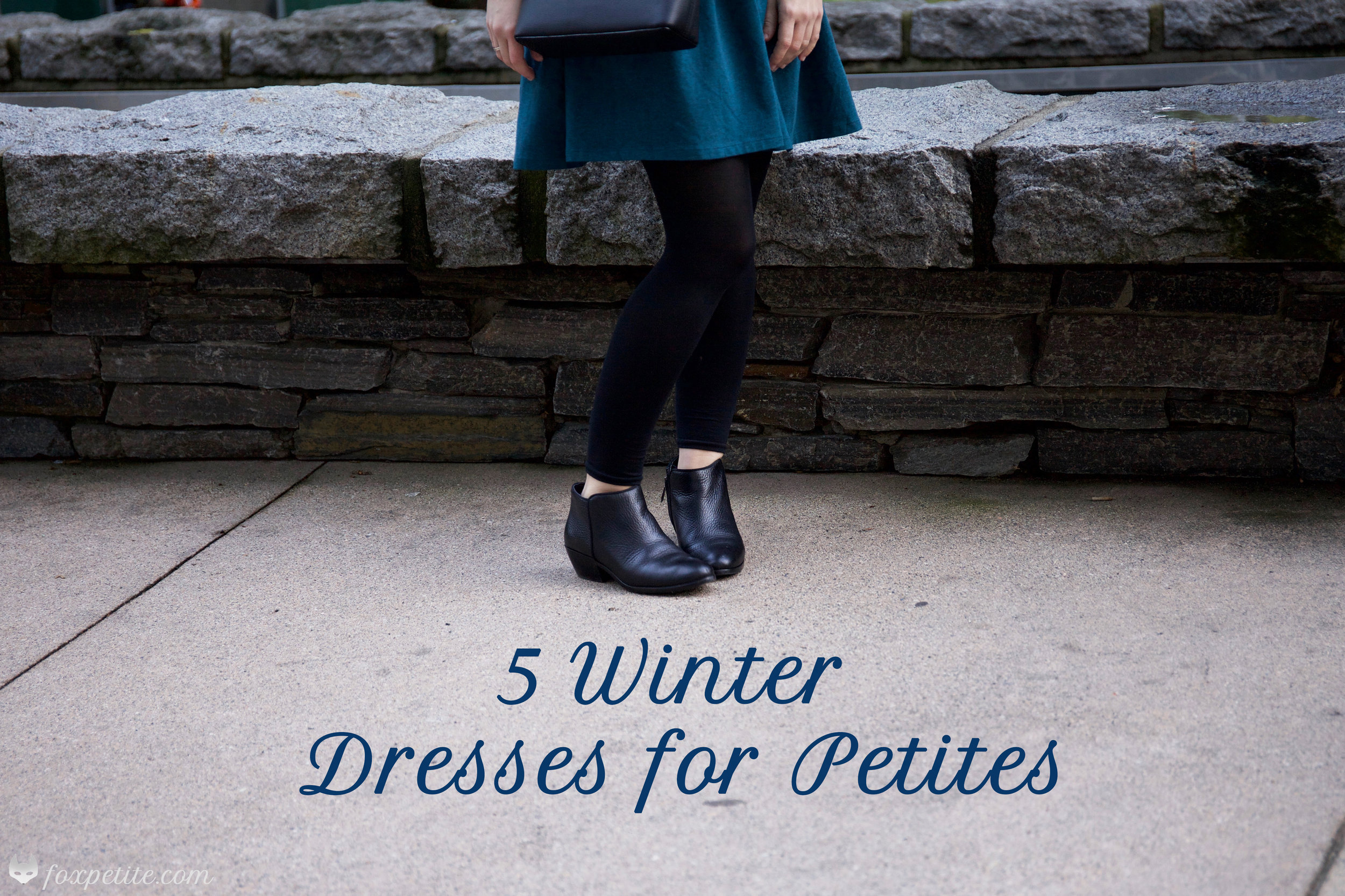 5 Winter Dresses For Petites | style tips for short girls | Fox Petite | women's fashion blog