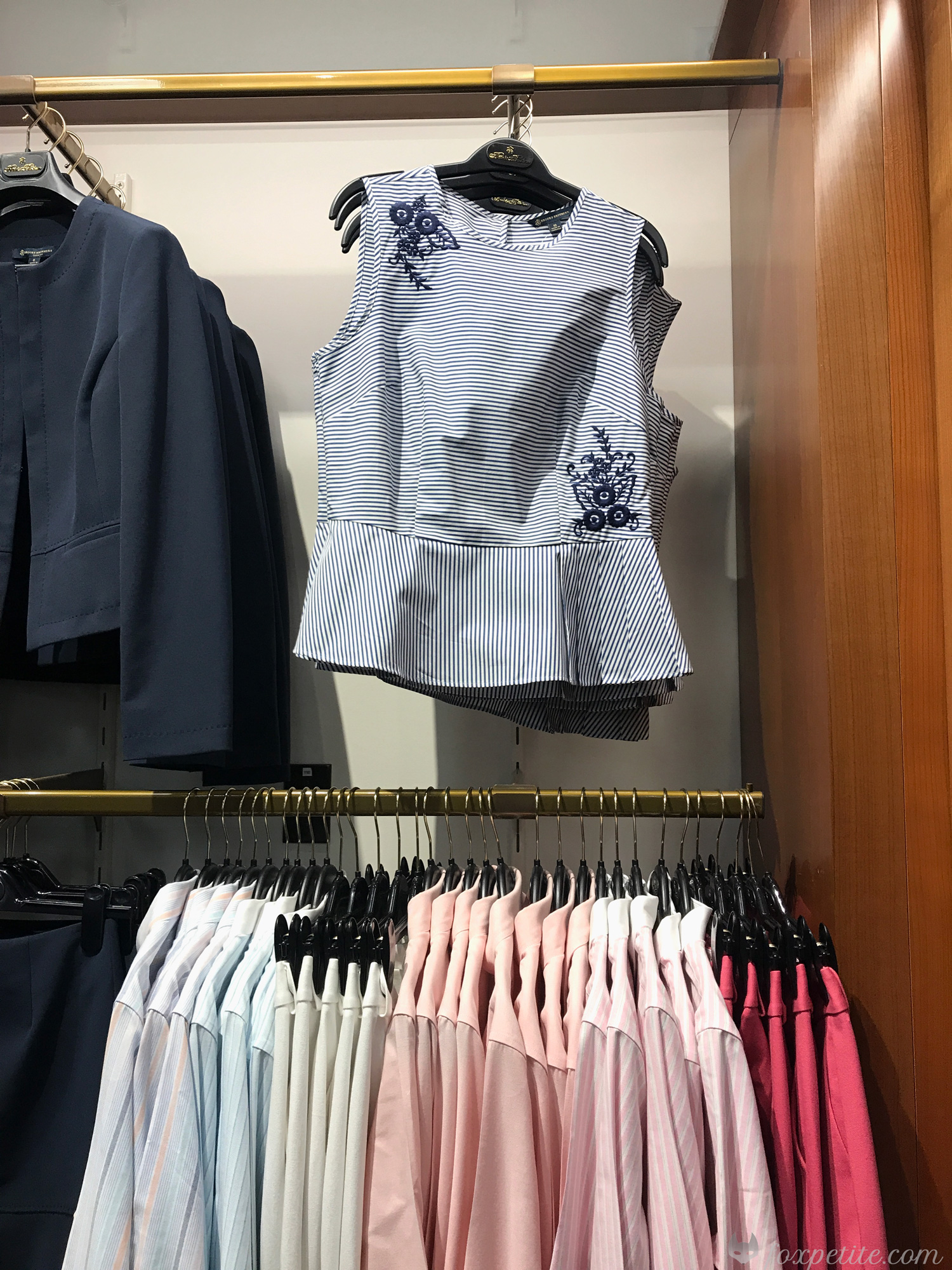 Brooks Brothers Petite women's work wardrobe clothing review | Fox Petite blog