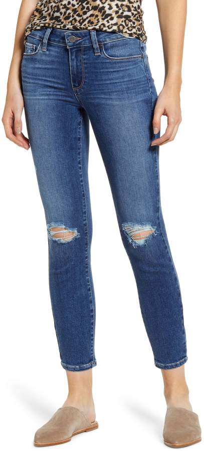 Paige Verdugo Ripped  Crop Skinny  Jeans