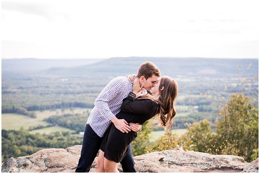 etit Jean Mountain Engagement Photos- Sunset Photography