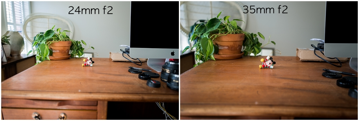 This set of photos is another demonstration of the previous set. Same distance between subject and camera, same f stop, different focal length.