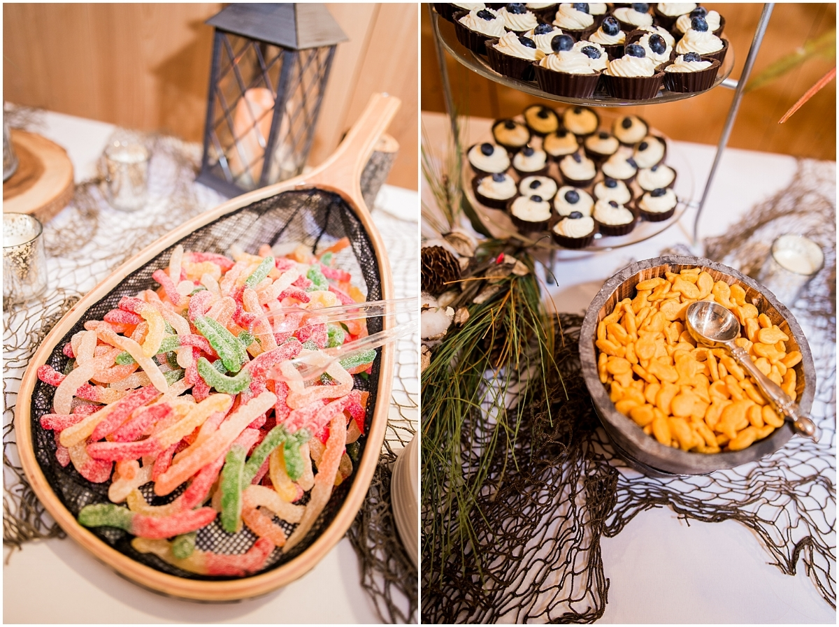 Fishing Groom's table by Natalie Smith Photography