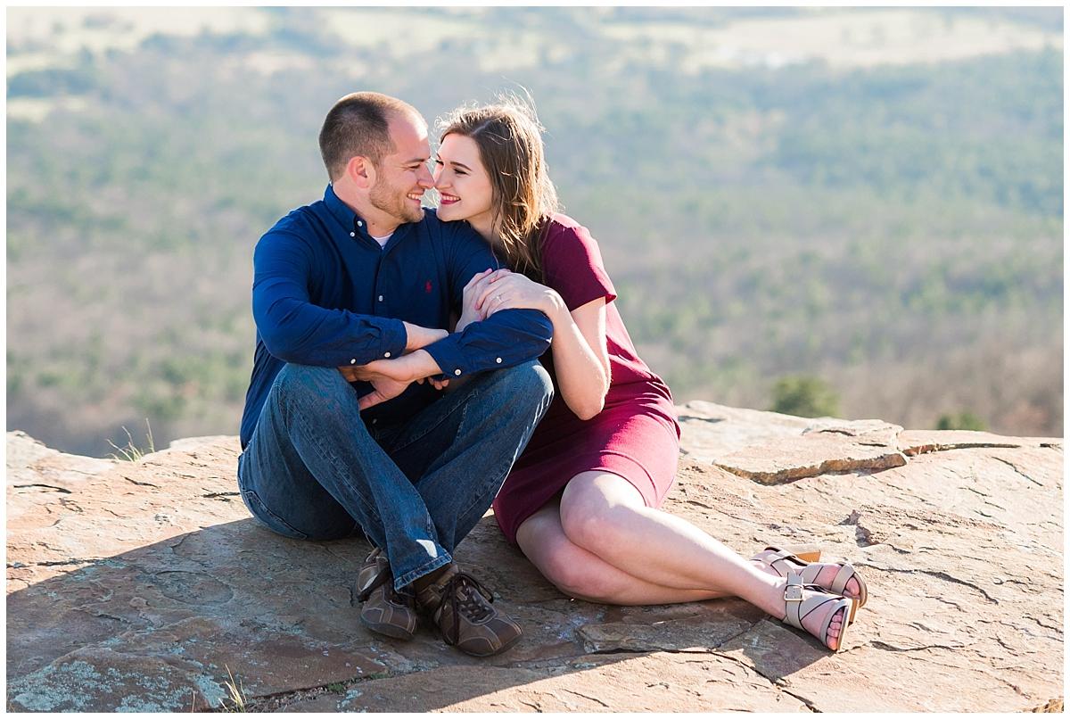 Mountain Engagement Session| Arkansas Light & Airy Wedding Photographer