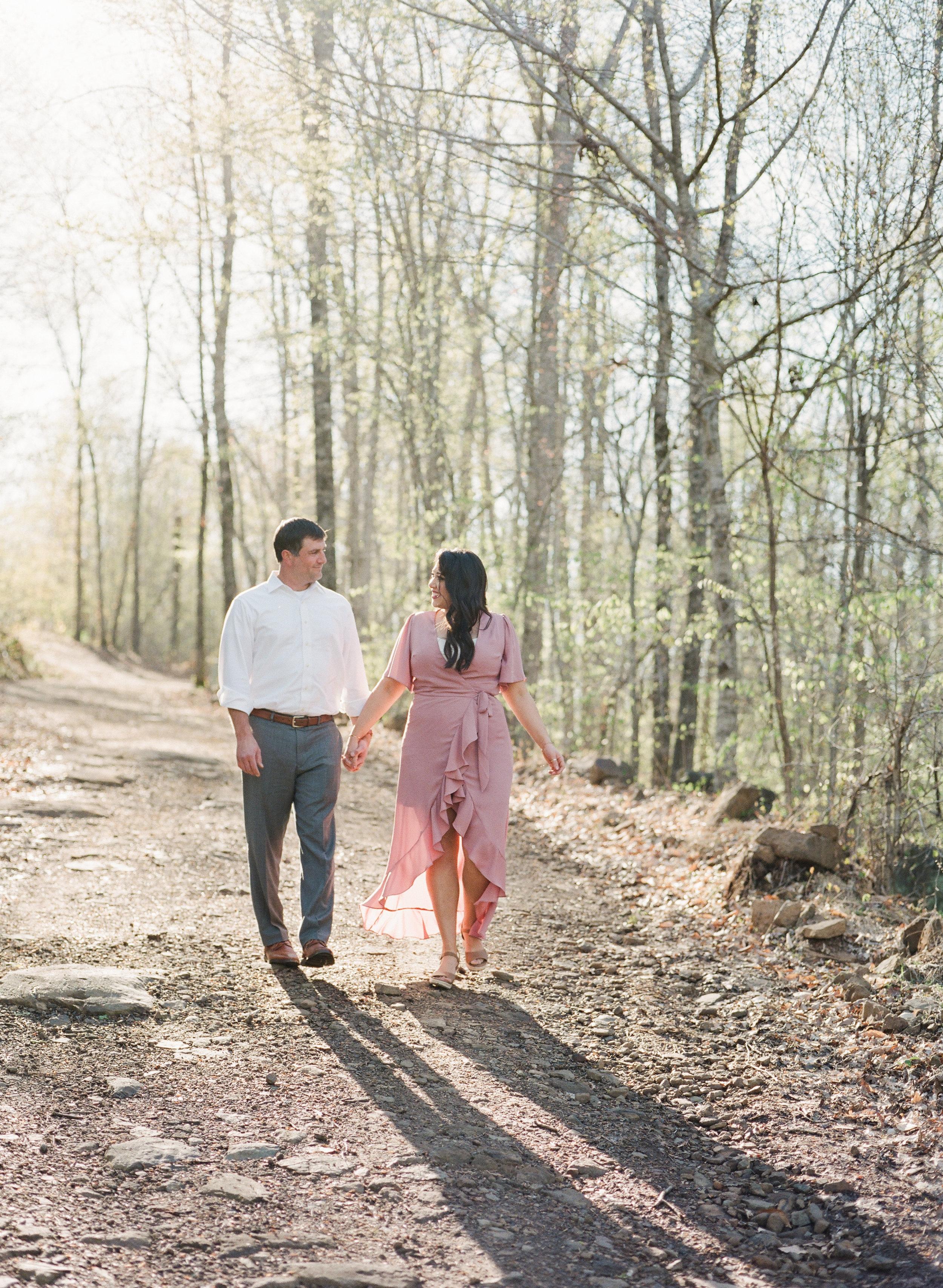 Woodsy Arkansas Engagement Session by Arkansas Wedding Photographer Natalie Smith Photography