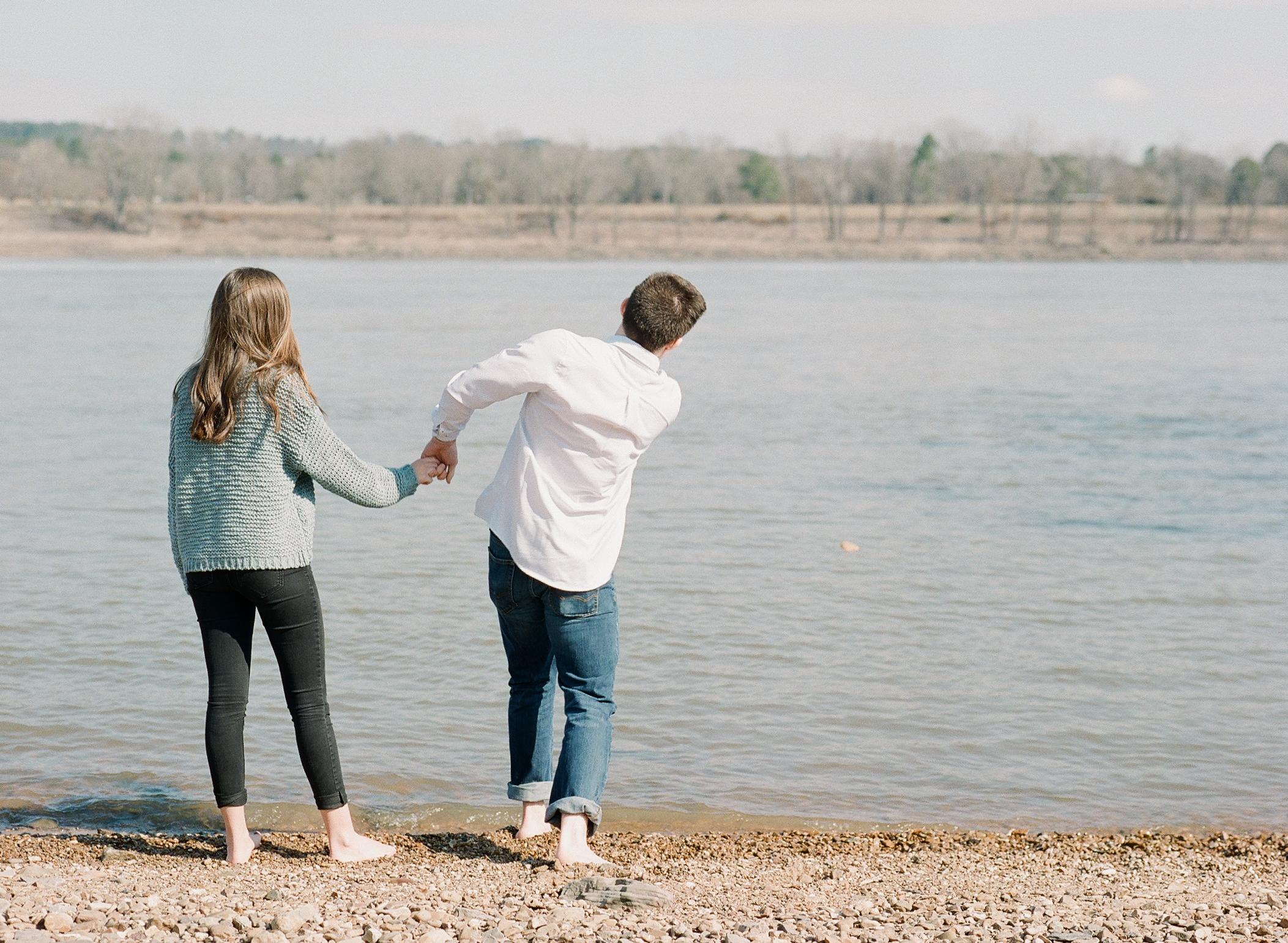 Beach Engagement Session | Arkansas River | Dardanelle, Arkansas