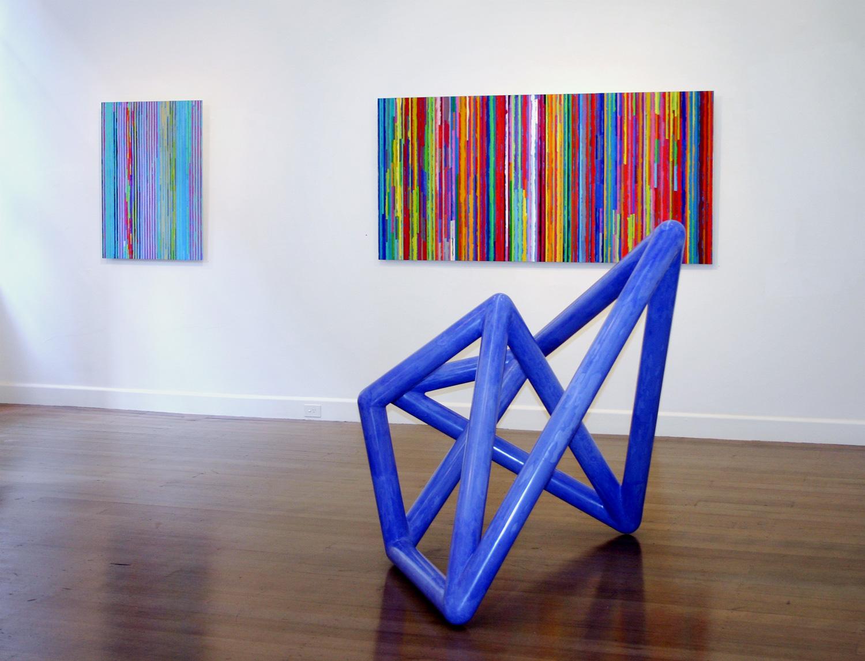 Foreground:  Vessel #2,  2003 Wall:  Spent Light #4 & 1,  2004 - 2005