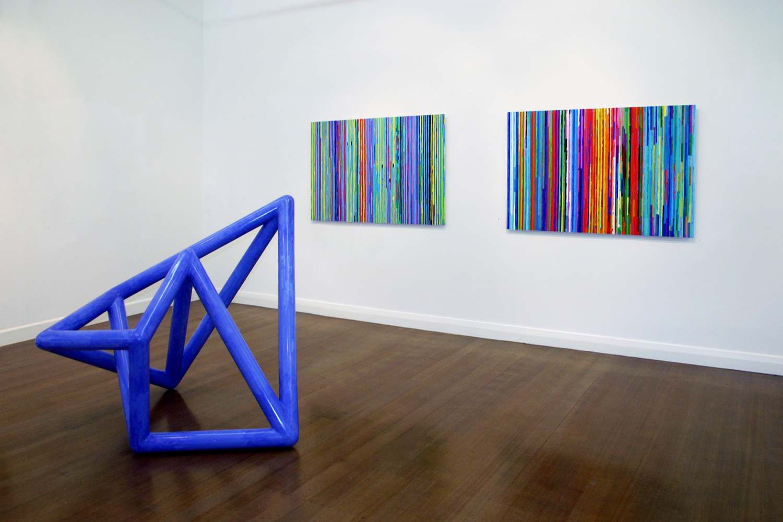 Foreground:  Vessel #3,  2003 Wall:  Spent Light #3 & 2,  2004