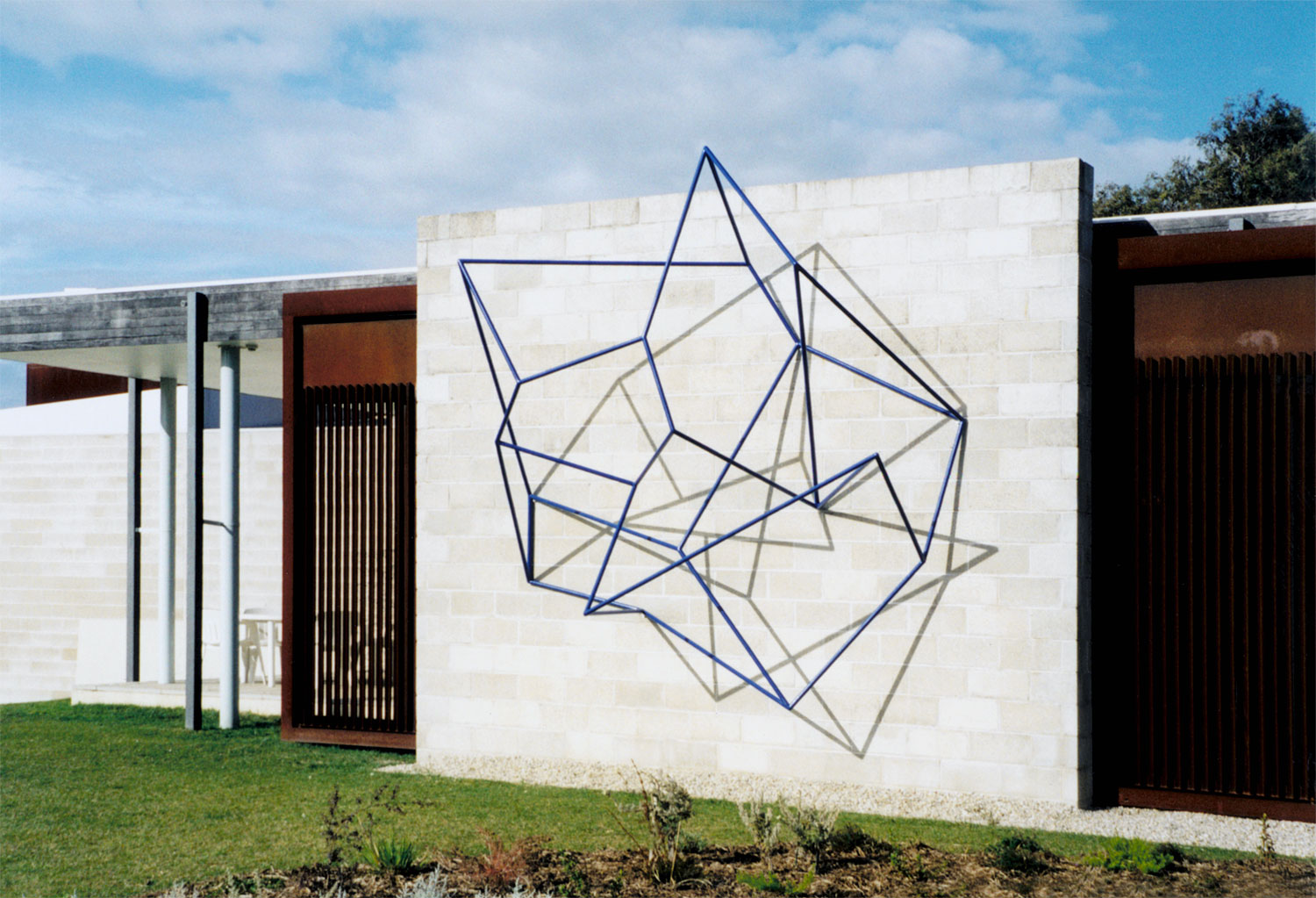 Double Vision #2,  2002 Painted Steel, 300 x 200 x 100cm Collection McClelland Gallery + Sculpture Park