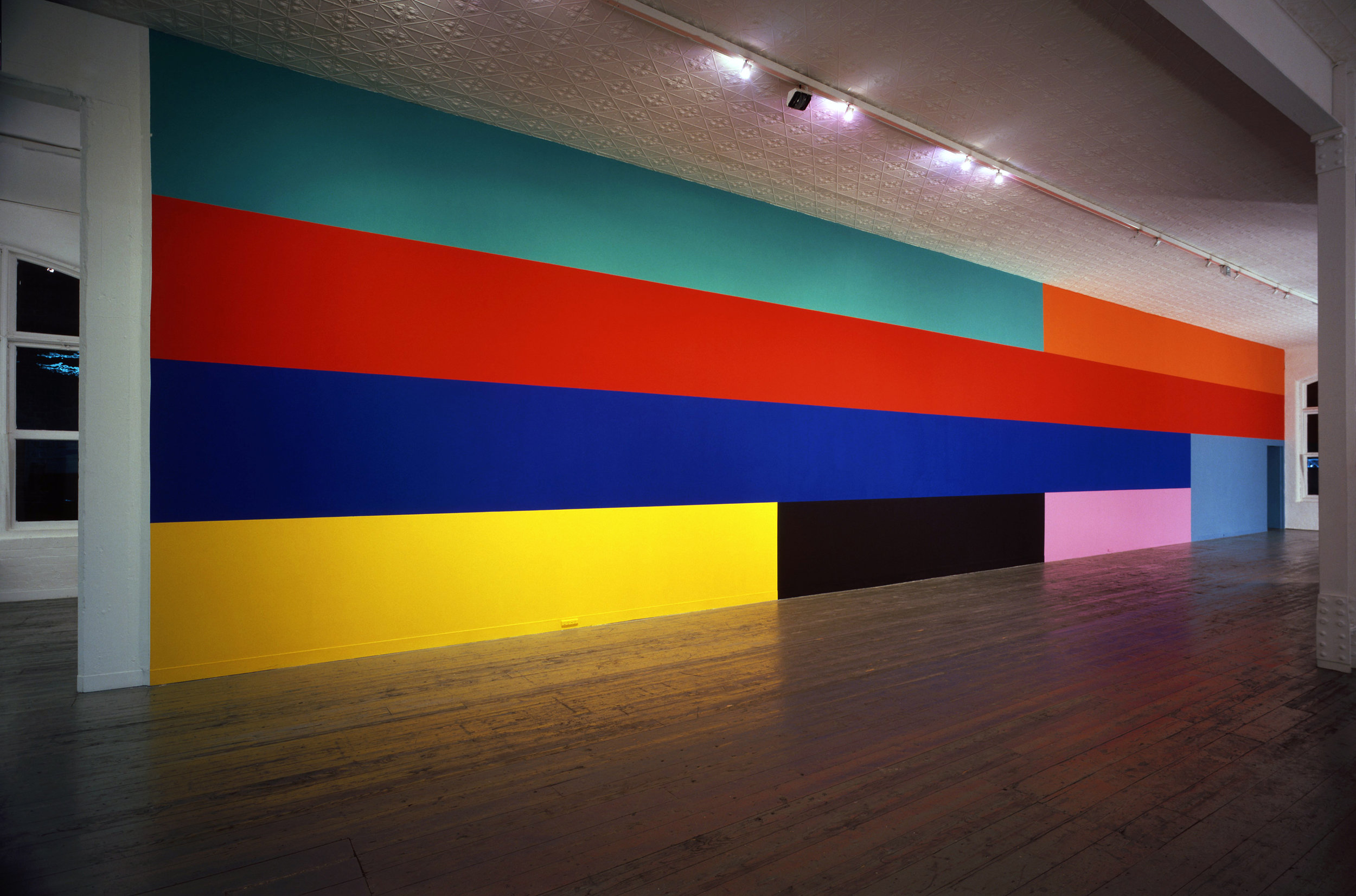 Sunrise #1,  1993 Acrylic on wall, 420 x 3200cm City Gallery Melbourne Photography: John Gollings  Catalogue essay