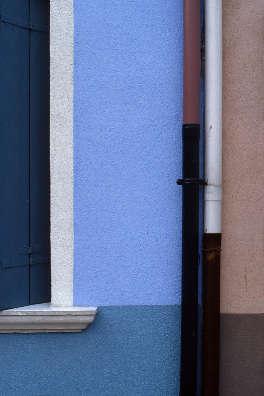 Drainpipes, Burano Italy, 1978 ,Cibachrome Print, 24 x 16cm, Edition of 10.              Exhibition:  Burano Colour Works ,Australian Centre for Photography, Sydney; Solander Gallery, Canberra; Wagga Wagga City Art Gallery,Wagga Wagga, 1979.